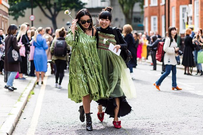 Tina Leung and Susie Lau in Molly Goddard<br><br>  Image: Jason Lloyd-Evans