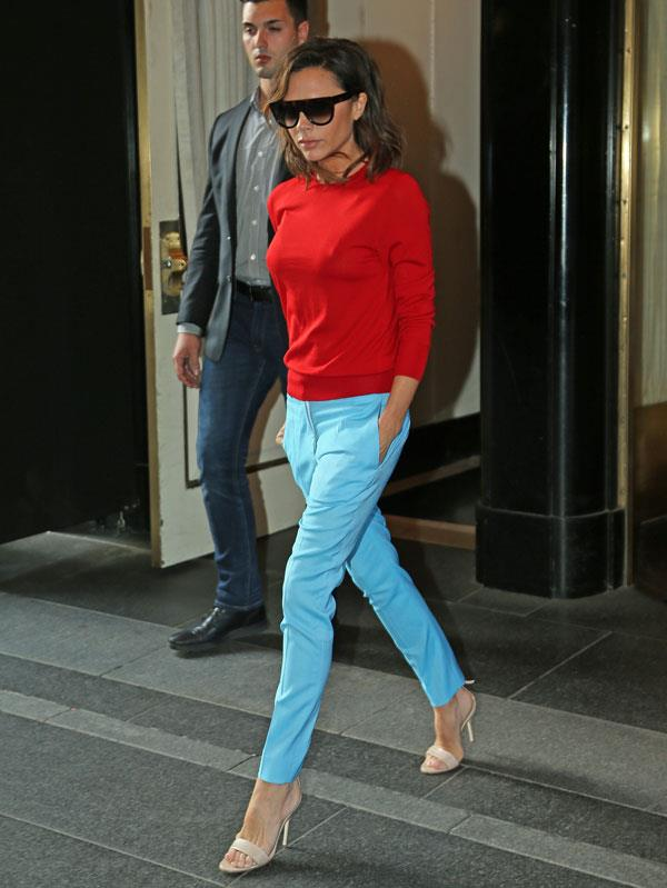 "In an interview with [*The Telegraph*](http://www.telegraph.co.uk/fashion/london-fashion-week/victoria-beckham-one-outfit-wore-drew-compliment-david/) Victoria Beckham reveals David Beckham's favourite outfit she's ever worn, and the answer might surprise you. ""A few months ago I was wearing blue trousers and a simple red jumper,"" she recalls. ""David never really comments on pictures of me but he said 'those pictures look really great, it's great to see you in colour.'"" <br><br> ""I used to wear a lot of black so I would never understand why certain people used to say 'you need to wear colour'"" she continues. ""I just thought black was great but now I really enjoy wearing colour. When I see pictures of myself in colour it feels fresh and more useful. I'm in a great position because I can see pictures of myself and learn from what I see."""