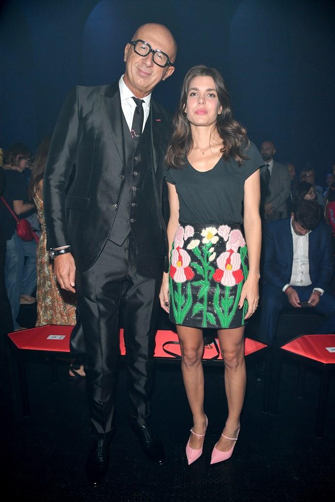 Marco Bizzarri and Charlotte Casiraghi