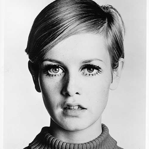**Twiggy** <br><br> **Decade:** 1960s <br><br> English model Lesley Lawson—better known as Twiggy—was a '60s style icon, whose career skyrocketed after she chopped her hair off into a short boyish crop.