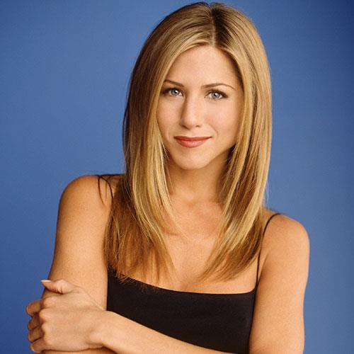 **Rachel from *Friends*** <br><br> **Decade:** 1990s <br><br> Jennifer Aniston's character in *Friends* was revered for her layered hairstyle, which was *always* blowdryed to perfection. So much so, the style is still known as 'The Rachel'.