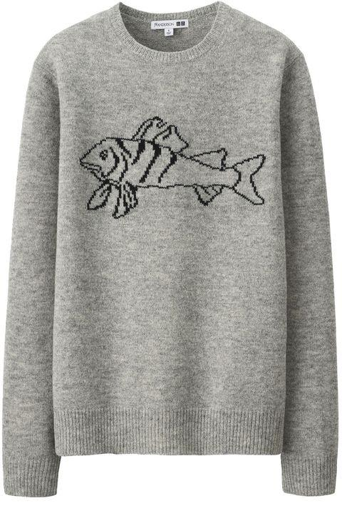 Sweater, $49.90, J.W. Anderson X Uniqlo at [Uniqlo](http://www.uniqlo.com/au/store/men-j-w-anderson-lambswool-crew-neck-long-sleeve-sweater-4032740001.html)