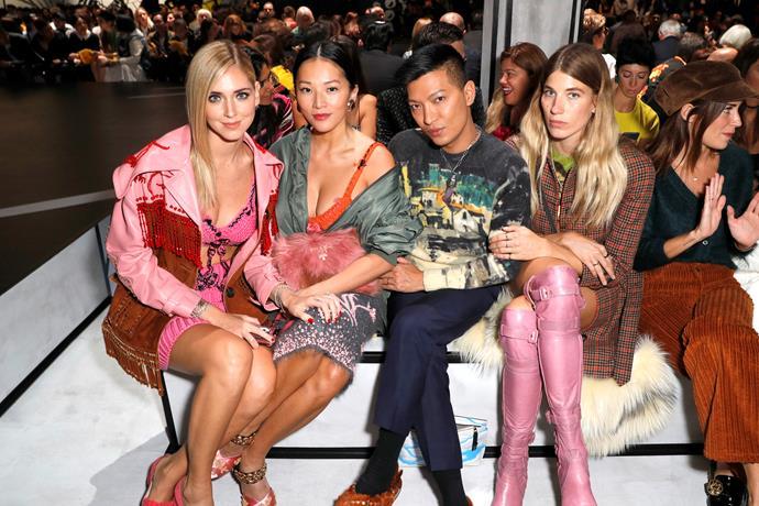 Chiara Ferragni, Tina Leung, Bryan Boy and Veronika Heilbrunner sit front row.