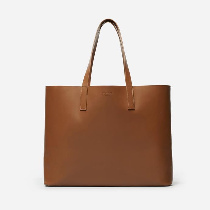 'The Day Market' Tote, $165, at [Everlane](https://www.everlane.com/products/womens-day-market-tote-cognac?utm_source=pepperjam&utm_medium=1-6819&utm_campaign=73861&clickId=2090161139).