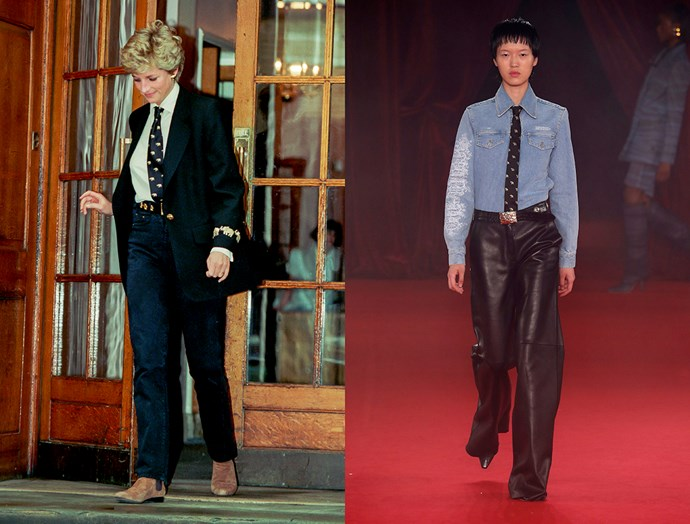 Diana, Princess of Wales in March, 1994 / Off-White spring summer 2018