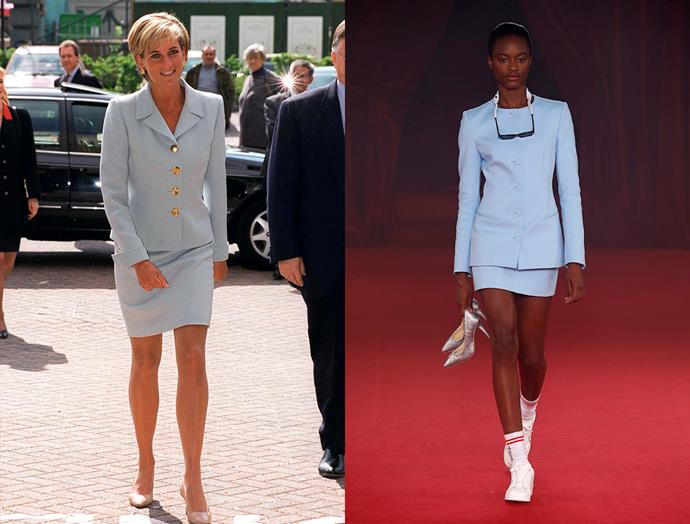 Diana, Princess of Wales in April, 1997 / Off-White spring summer 2018