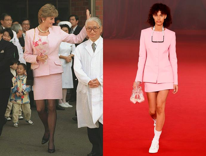Diana, Princess of Wales in July, 1995 / Off-White spring summer 2018