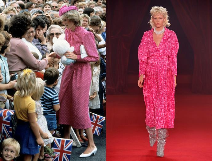 Diana, Princess of Wales in April, 1983 / Off-White spring summer 2018
