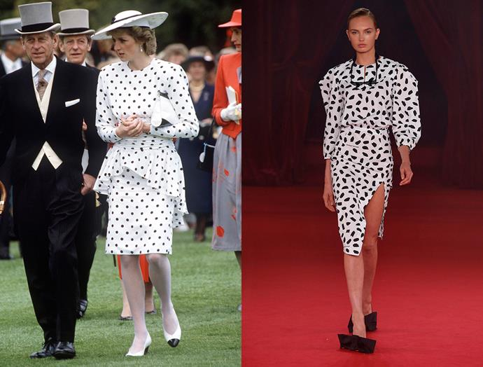 Diana, Princess of Wales in June, 1986 / Off-White spring summer 2018