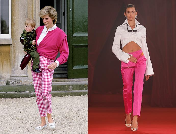 Diana, Princess of Wales in July, 1986 / Off-White spring summer 2018