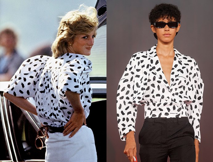 Diana, Princess of Wales in June, 1983 / Off-White spring summer 2018