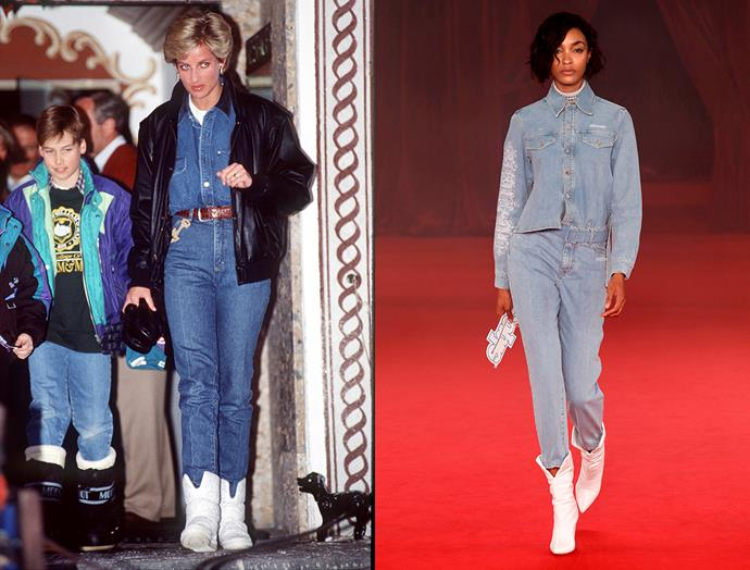 Diana, Princess of Wales in March, 1993 / Off-White spring summer 2018