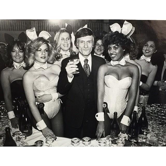 Toasting to the Playboy lifestyle! From [Instagram](https://www.instagram.com/p/1E4dZkmP2n/?taken-by=hughhefner).