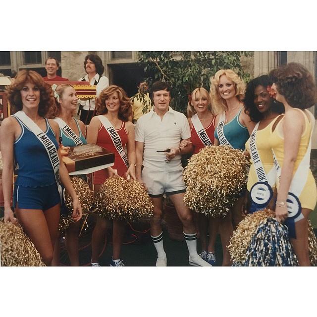 Hefner's 'Birthday Olympics' in 1979. From [Instagram](https://www.instagram.com/p/2xRWICGPx8/?taken-by=hughhefner).