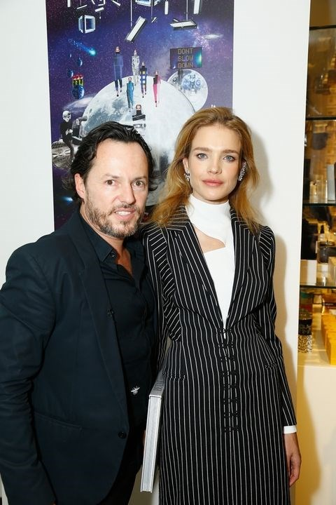 Alexander de Betak and Natalia Vodianova at the Betak Cocktail At Colette party.