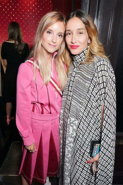 Charlotte Groenveld and Tiany Kiriloff at the Valentino 'I Love Spike' party.