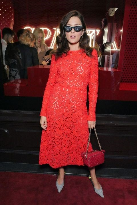 Eleanora Carisi at the Valentino 'I Love Spike' party.