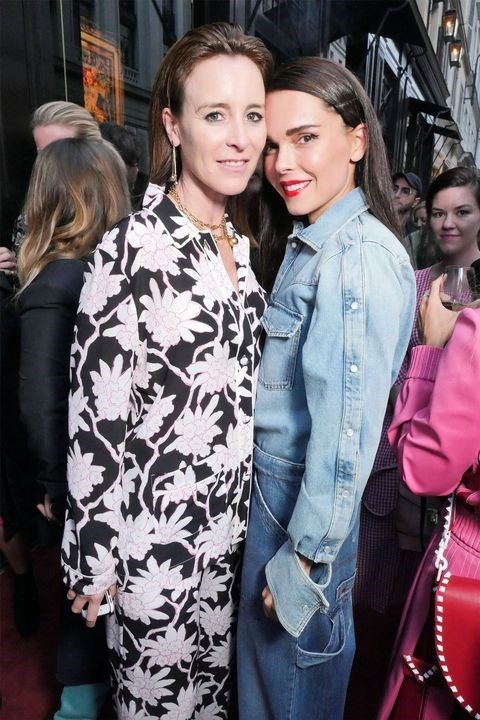 Amanda Shadforth and Evangelie Smyrniotaki at the Valentino 'I Love Spike' party.
