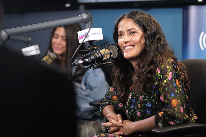"""**Salma Hayek** <br><br> **Salma Hayek** also wasn't discreet about the time she turned down Trump in the '90s, before his relationship with Melania. During an interview on *The Daily Show With Trevor Noah*, Hayek said she was at an event with her boyfriend when she met Trump for the first time, and he was friendly at first, before he continued to call her and ask her out. When she declined, he hit her with a response that we can imagine only Trump could say and take seriously.  <br><br> Trump allegedly said about Hayek's boyfriend, """"He's not good enough for you. He's not important. You have to go out with me [instead]"""".  <br><br> So, he was basically *imploring* her to cheat? How presidential."""