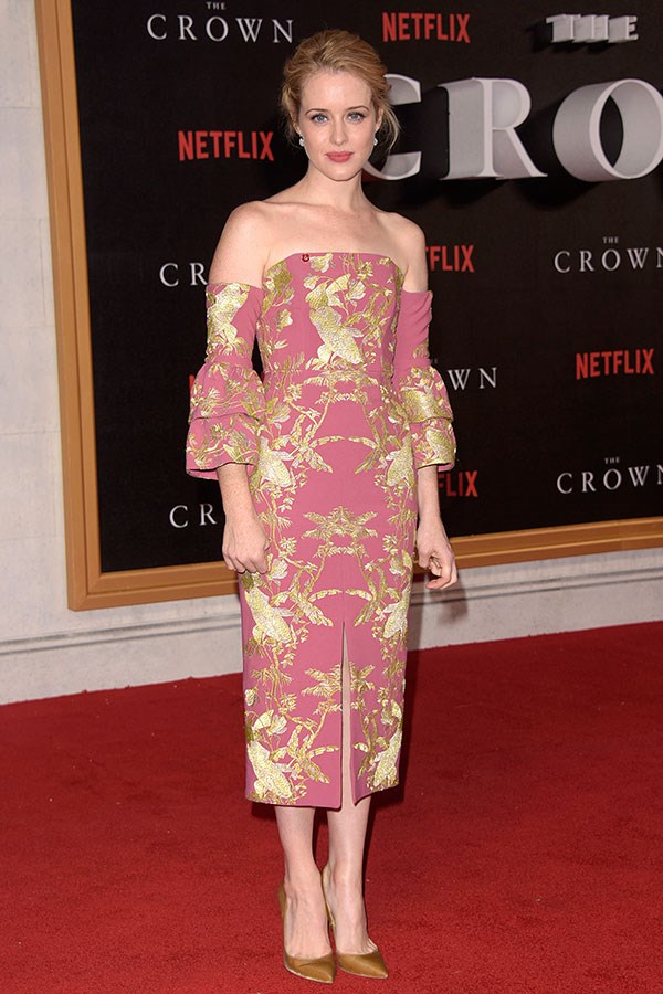 At the world premiere of *The Crown*, London, November 2016