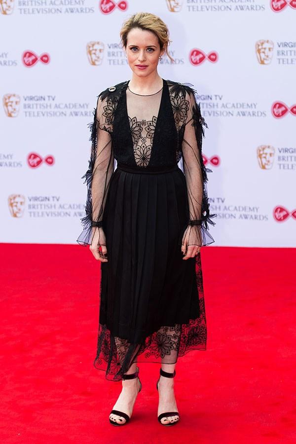 Wearing Fendi at the 2018 BAFTAs, London, May 2017