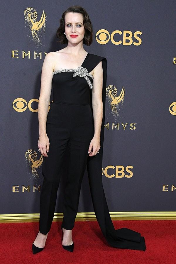 Wearing Oscar de la Renta at the 69th Annual Primetime Emmy Awards, Los Angeles, September 2017
