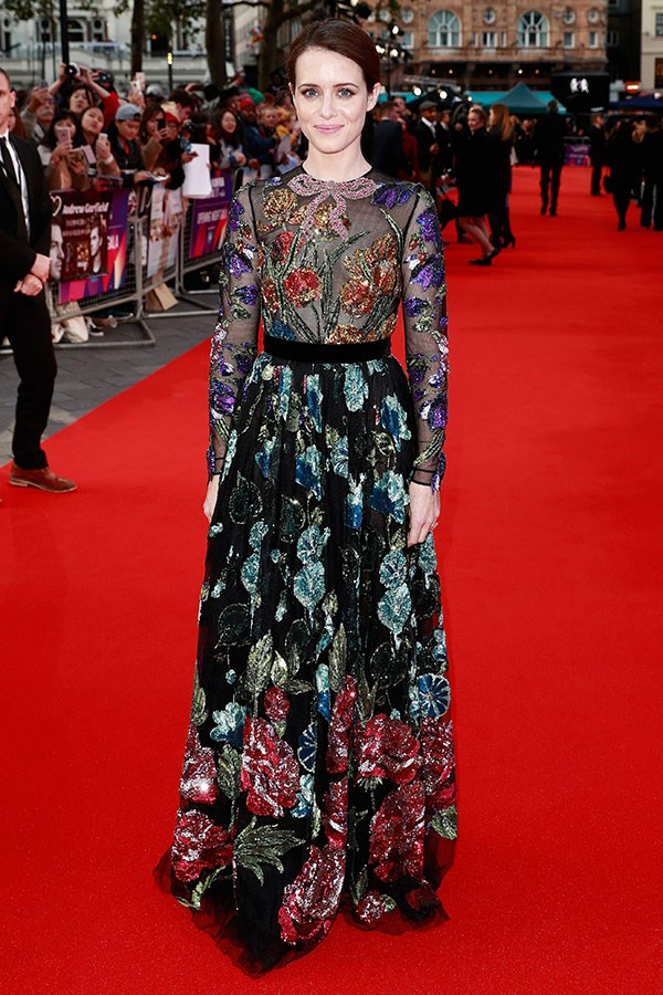 Wearing Gucci at the *Breathe* Opening Night Gala, London, October 2017