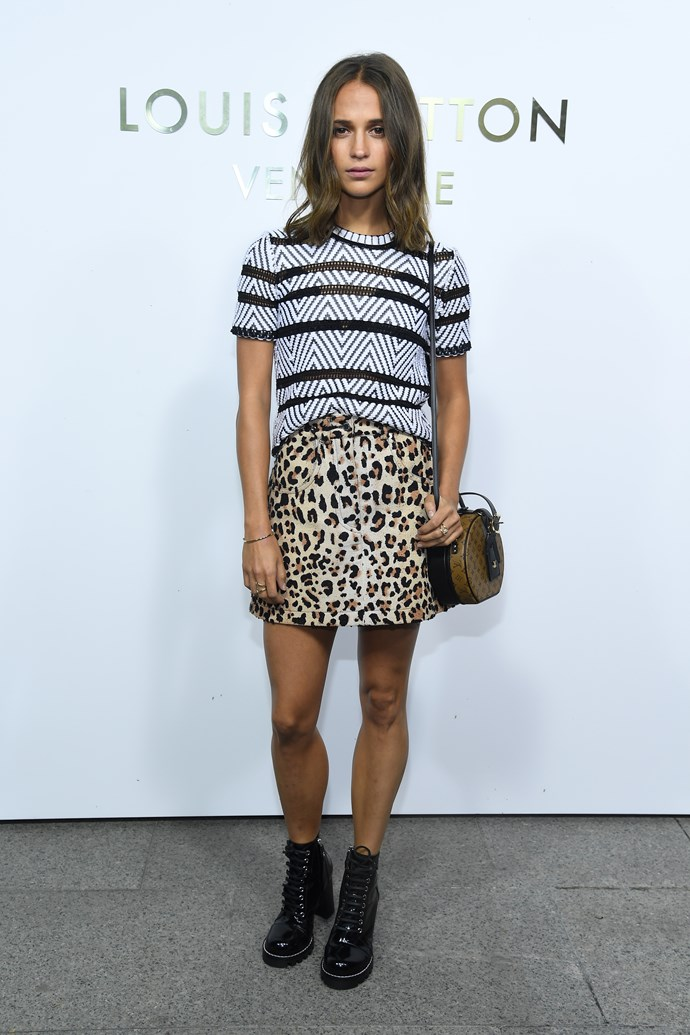 Alicia Vikander at the Louis Vuitton Maison Place Vendome opening