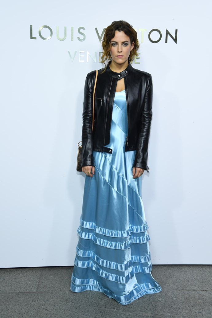 Riley Keough at the Louis Vuitton Maison Place Vendome opening