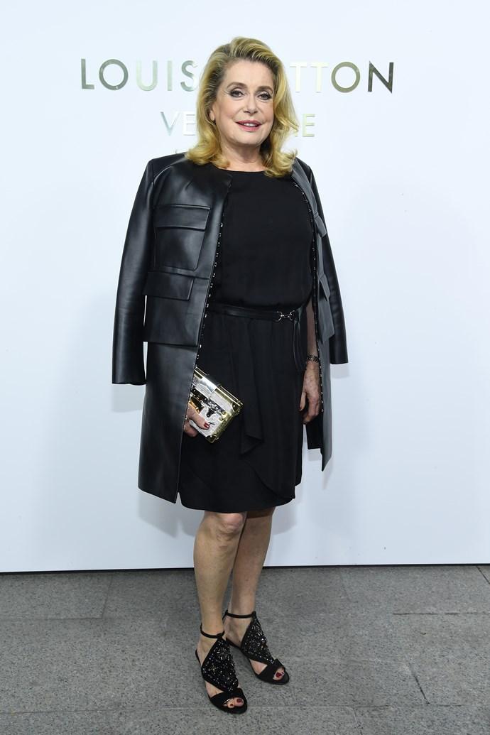 Catherine Deneuve at the Louis Vuitton Maison Place Vendome opening