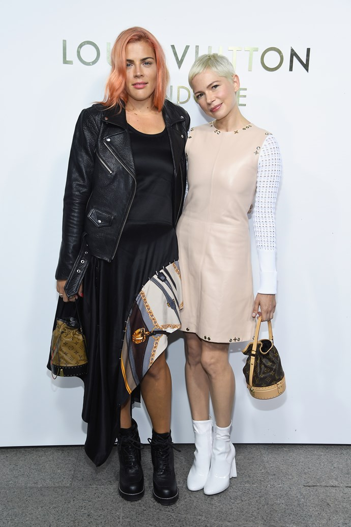 Busy Phillips and Michelle Williams at the Louis Vuitton Maison Place Vendome opening