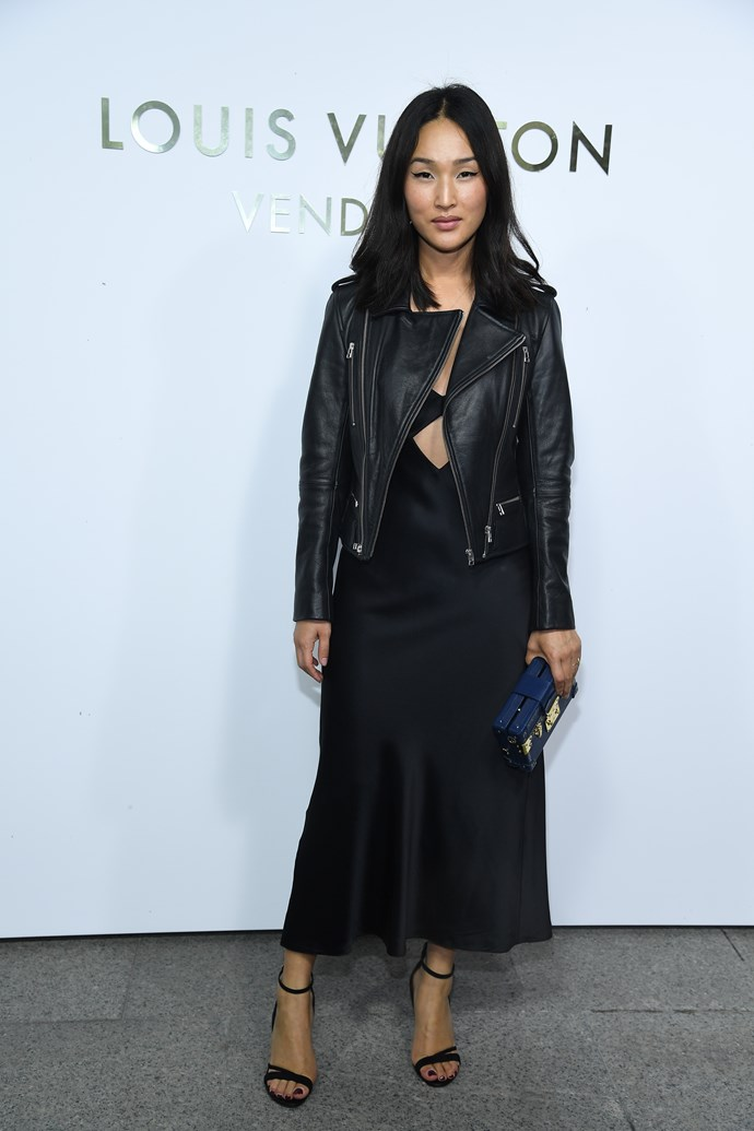 Nicole Warne at the Louis Vuitton Maison Place Vendome opening