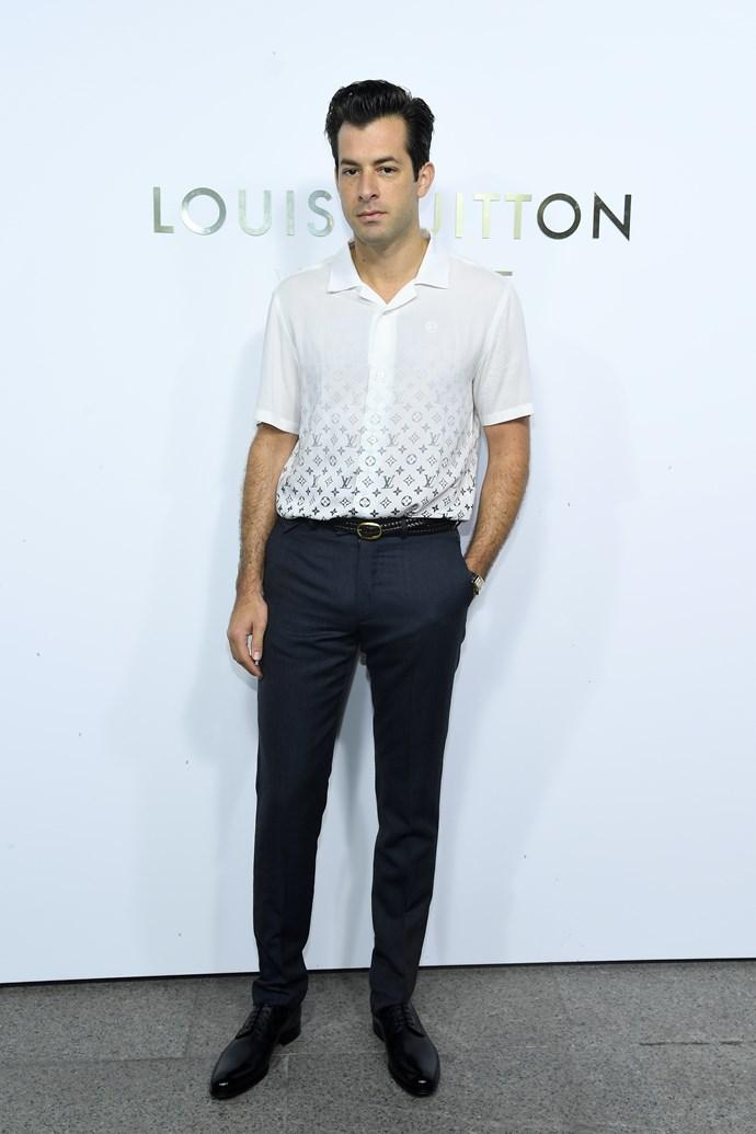Mark Ronson at the Louis Vuitton Maison Place Vendome opening