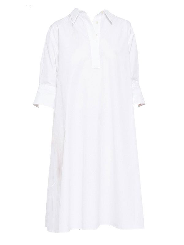 **The Only Shirt Dress You Need:** Jac + Jack Sacramento Dress <br><br> The crisp white tailored shirt dress is a summer wardrobe mainstay. This season it's all about relaxed open collars, cropped sleeves and knee-length hemlines, something Jac + Jack excel at. <br><br> Dress, $399 at [Jac + Jack](http://www.jacandjack.com/Shop_Womens/All/JJ2958SU17.1/Sacramento-Dress---White.html)