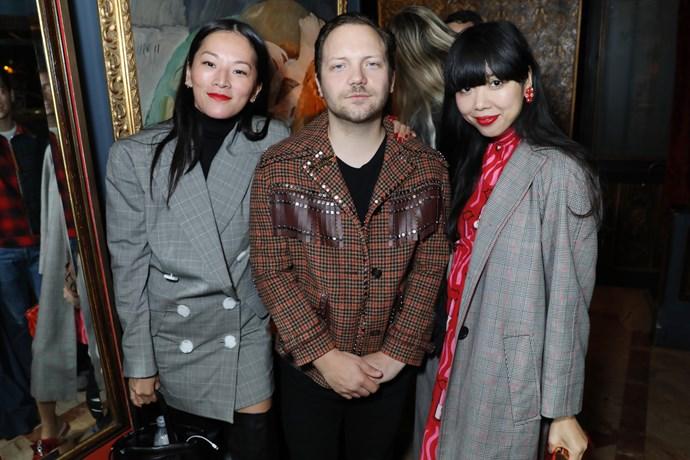 Tina Leung, Alex Fury and Susie Lau at the MATCHESFASHION.COM x Alex Fury dinner.