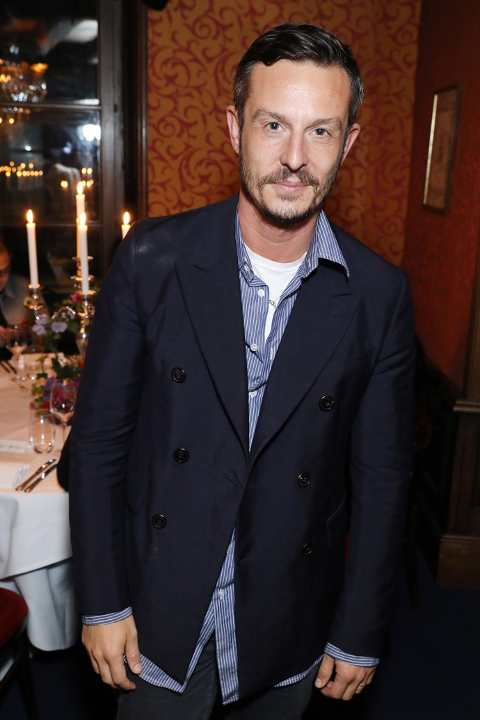 Jonathan Saunders at the MATCHESFASHION.COM x Alex Fury dinner.