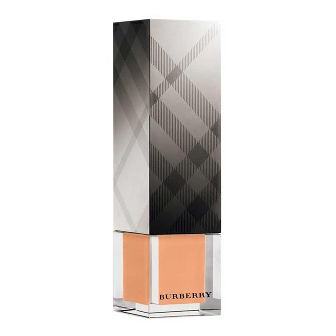 "**Burberry Fresh Glow Foundation**, $86 at [Sephora](https://www.sephora.com.au/products/burberry-fresh-glow-luminous-fluid-foundation-62a0bfe6-3b7d-4109-8881-24c0c30e20c6).  <br><br> Victoria tells *Into The Gloss*: ""I use Burberry Fresh Glow Foundation and Cashmere Concealer."""