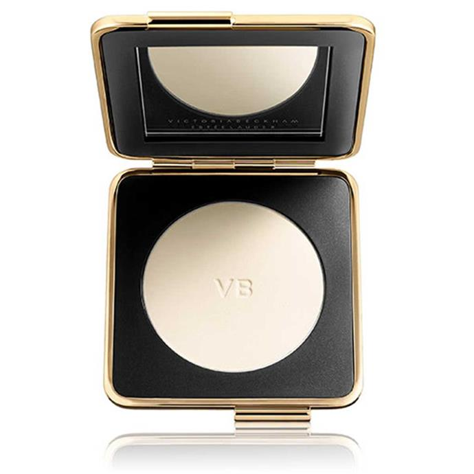 "**Estée Lauder Skin Perfecting Powder**, $125 at [Adore Beauty](https://www.adorebeauty.com.au/victoria-beckham-x-estee-lauder/estee-lauder-victoria-beckham-skin-perfecting-powder.html).  <br><br> ""It just mattes everything down and helps blend everything together. Then you can highlight on top of that."""
