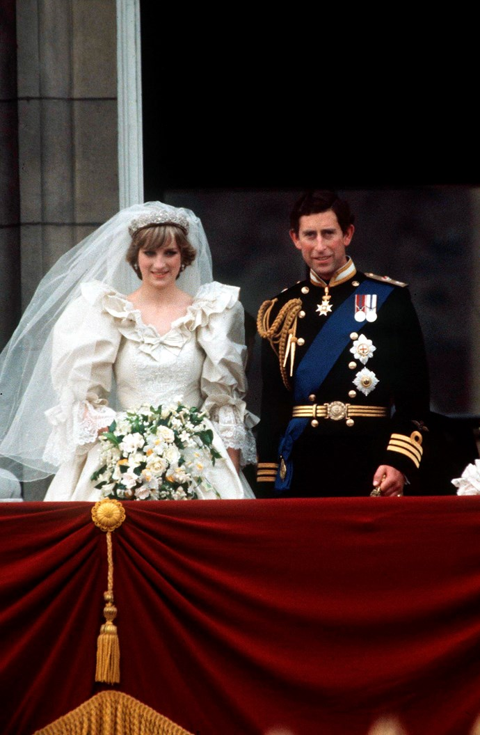 **She had a horseshoe charm sewn into her wedding dress**<br><br> For an extra dose of luck on her wedding day, Diana had a tiny gold horseshoe charm sewn onto the label at the back of her dress.