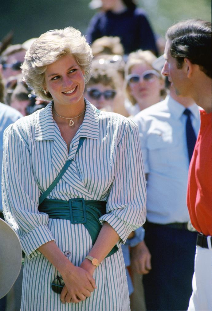 **She wore an initial necklace**<br><br> Eat your heart out, Carrie Bradshaw and Anne Boleyn! Diana also wore her own 'D' necklace throughout her life.