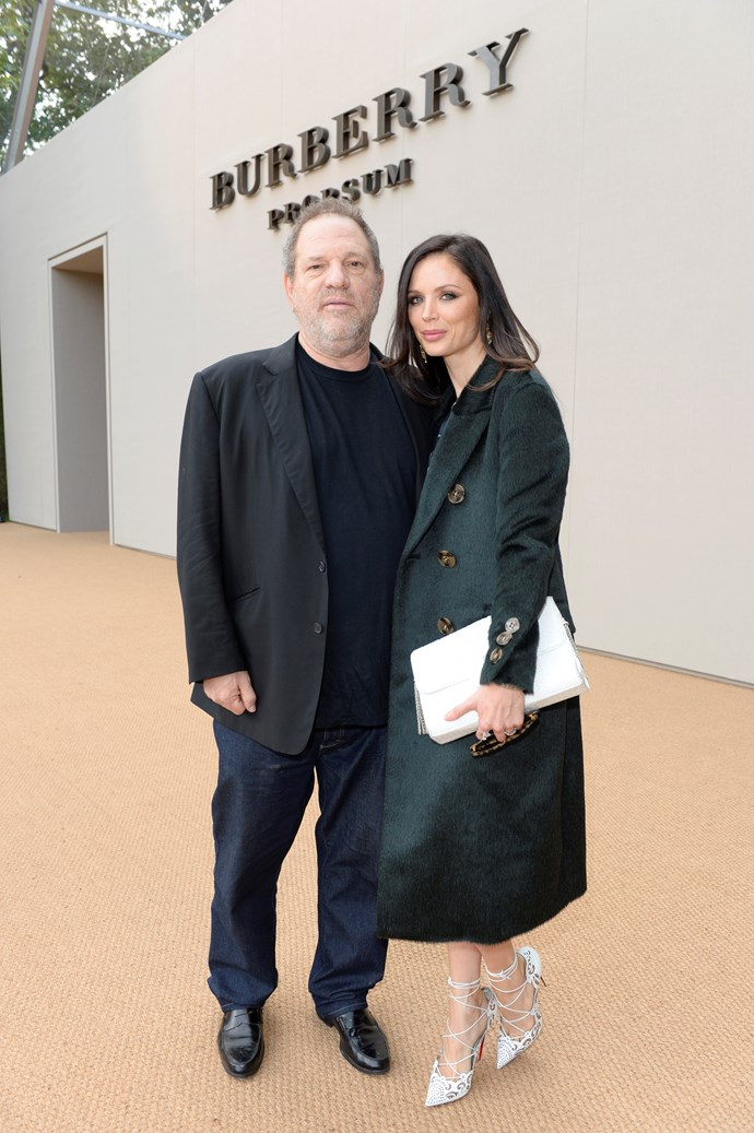 Weinstein and Chapman were regulars on the fashion week circuit.
