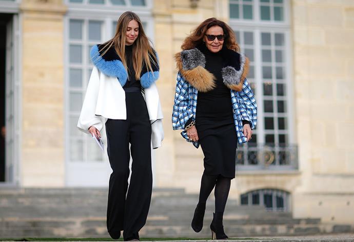 Diane von Fürstenberg and her granddaughter Talita von Fürstenberg