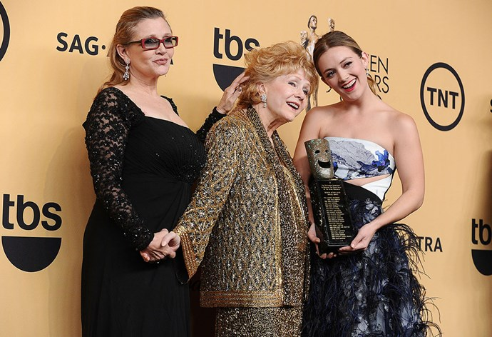 Debbie Reynolds and her daughter, Carrie Fisher, and granddaughter Billie Lourd