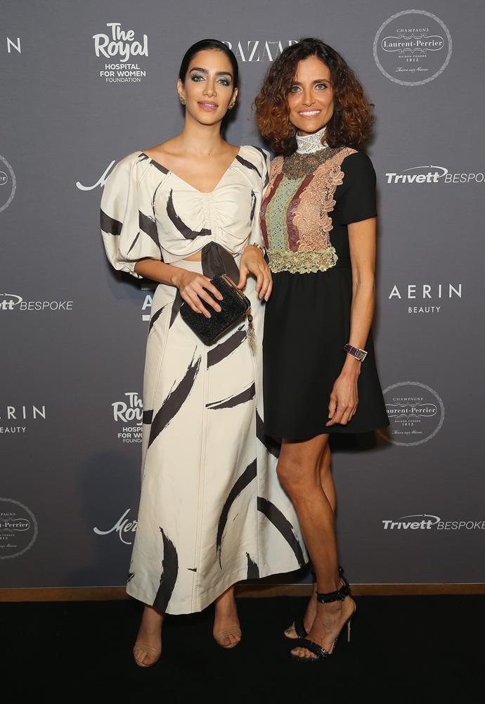 Jessica Kahawaty in Zimmermann and Rita Kahawaty in Valentino   Image: Getty