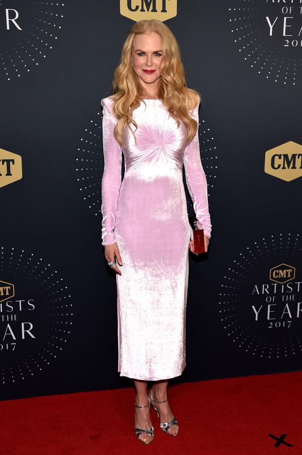 In Versace at the 2017 CMT Artists of the Year Awards.
