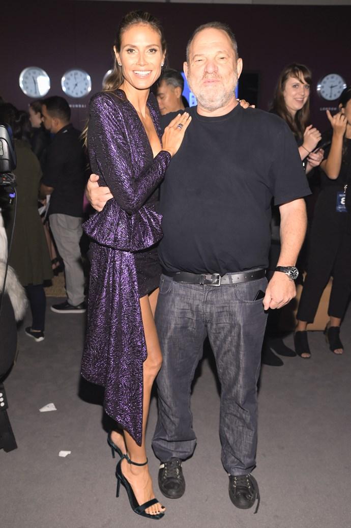 Weinstein with Project Runway host and supermodel Heidi Klum