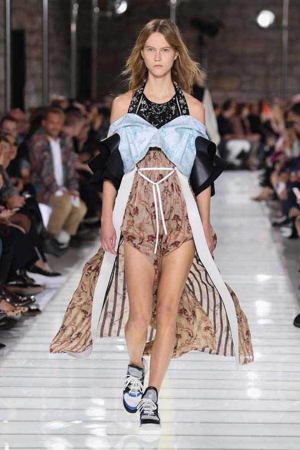 **Bustiers**  Bustiers have been back on the scene since Maria Grazia Chiuri debuted her tulle bustier gowns at Dior last year. Those dresses have since become a red carpet favourite, but designers at spring summer '18 reminded us that the ultra-feminine silhouette works in 'real life' too.   Louis Vuitton spring summer '18