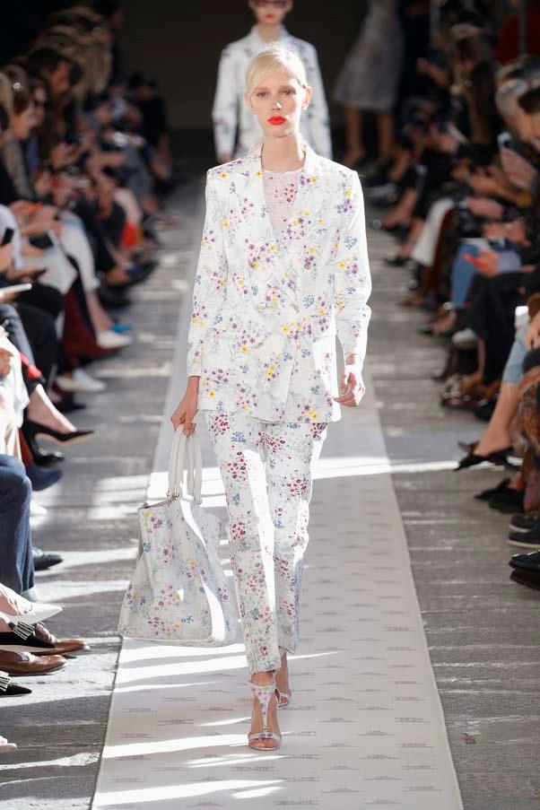 **White suits**   Suiting has been on the scene for a while now but it was bright white (practicality bedamned!) and sleek tailoring that stole the show at S/S 18. Consider this the slouchy oversized suits 'really-got-her-shit-together' older sister.   Max Mara spring summer '18