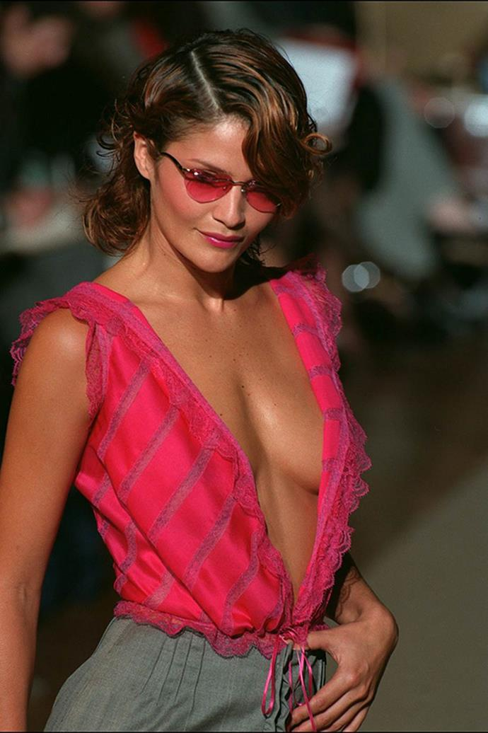 **Helena Christensen:** Leo was spotted with the OG Victoria's Secret model at a number of parties in 1997.