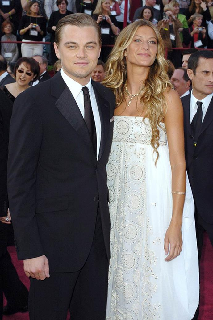 **Gisele Bündchen:** One of Leo's longest relationships, he shacked up with the Brazilian supermodel between 2000 and 2005, and famously took her to the Oscars as his date.